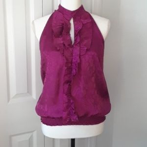 Iz Byer Sleeveless Purple Blouse